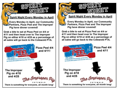 SN Flyer - Pizza Peel and Improper Pig