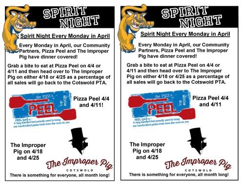 SN Flyer - Pizza Peel and Improper Pig
